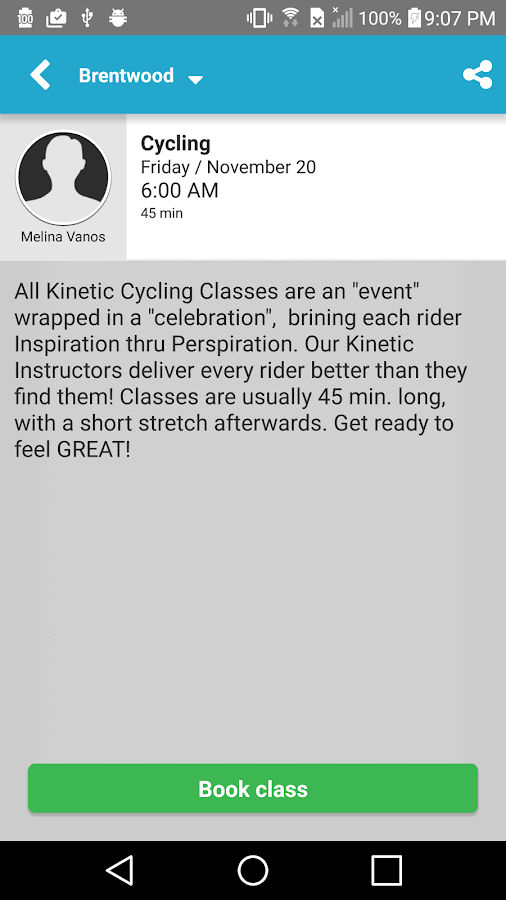 Kinetic Cycling- screenshot