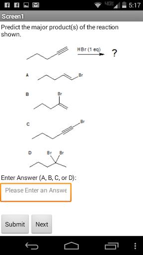 Organic Chem 1 Quiz - Addition