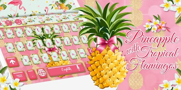 Pink Flamingos Pineapple Keyboard - náhled