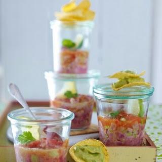 Thunfisch-Ceviche mit Guacamole