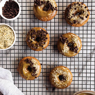 Banana Bread Gluten-free Doughnuts with Maple Hemp Heart Glaze {Gluten-free*, Dairy-free}