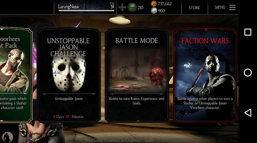 Tiga mode permainan Mortal Kombat X for mobile