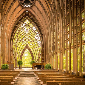 Come, Now is the Time to Worship by Jennifer  Loper  - Buildings & Architecture Places of Worship ( glass, e.fay jones, church, arkansas, architect, see-through, chapel )