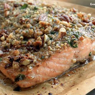 Pecan-Crusted Honey Mustard Salmon.