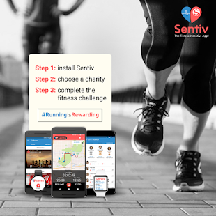 Sentiv - Run or Walk & Raise Money for a Charity- screenshot thumbnail