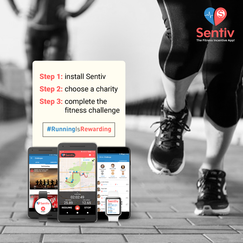 Sentiv - Run or Walk & Raise Money for a Charity- screenshot
