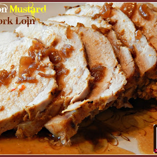 Onion Mustard Pork Loin