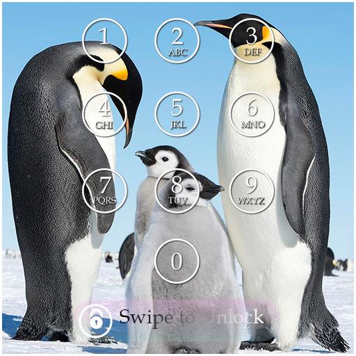 Penguin Keypad Lock Screen