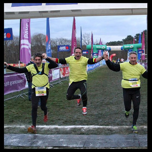 Mathias, Pascal, et Frédéric participent au cross Ouest France pour soutenir L'Arche la Ruisselée !