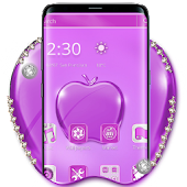 Purple Crystal Apple Mobile Theme