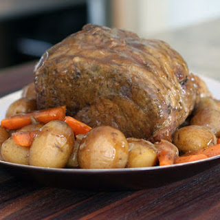 Basic Crockpot Pot Roast With Vegetables.