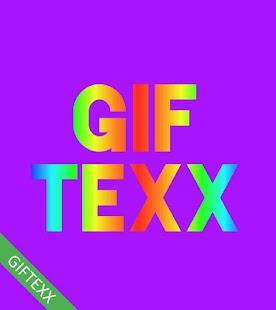 GIFTEXX gif maker Rainbow animation color text - náhled