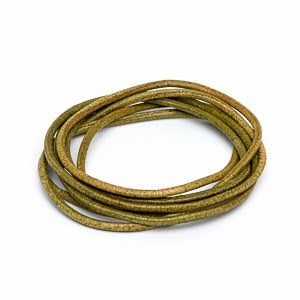 Olivgrön läderrem 1,3 mm längd 1 m