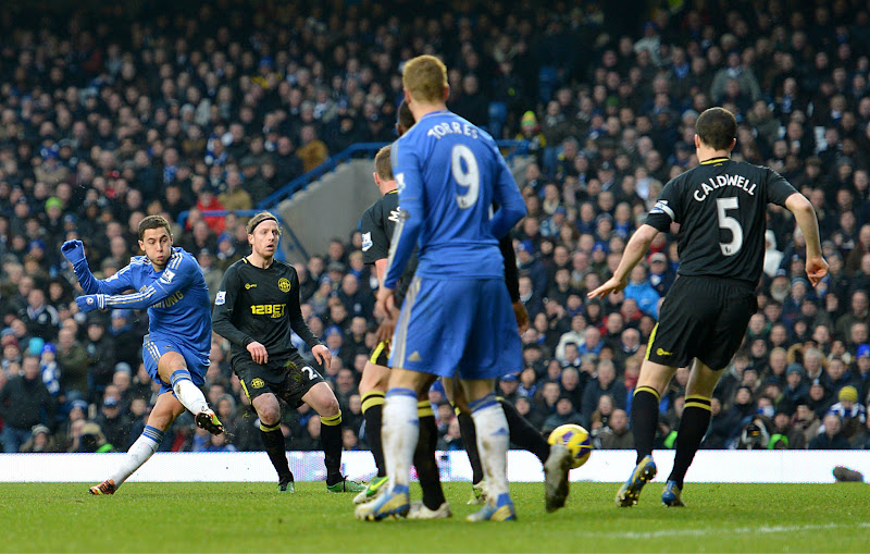 Photo: Hazard shoots and scores
