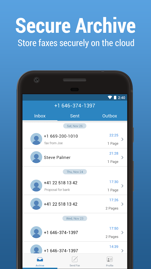 FAX.PLUS - Free Secure Online Fax App- screenshot