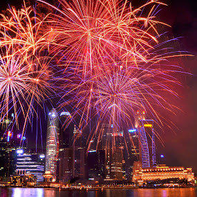 NDP firework  by Jun Hao - Buildings & Architecture Public & Historical