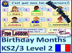 Months of the year in French Ks2