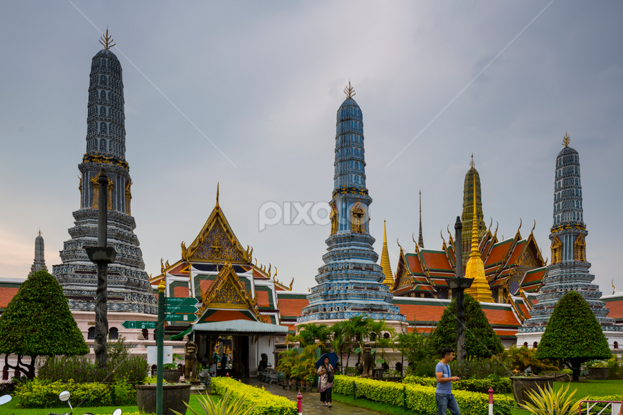 Royal Palace, Bangkok by Ajay Sood - Buildings & Architecture Statues & Monuments ( bangkok, ajay sood, ajay, sood, thailand, royal palace, travel, travelure, king )