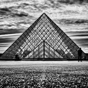 Louvre Pyramid  by Brandon Rechten - Buildings & Architecture Public & Historical ( pwcbuilding )