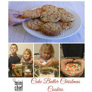 Cake Batter Christmas Cookies.