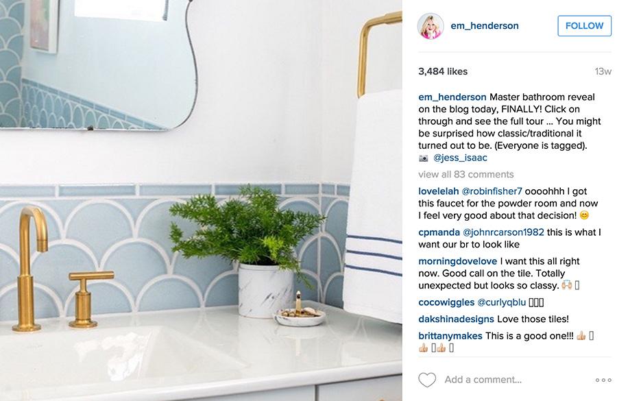 instagram bathroom
