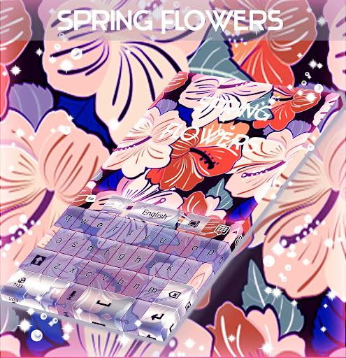 春の花のキーボード