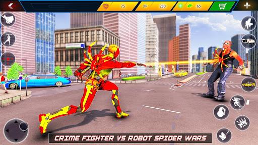 Flying Robot Rope Hero - Vegas Crime City Gangster screenshots 11