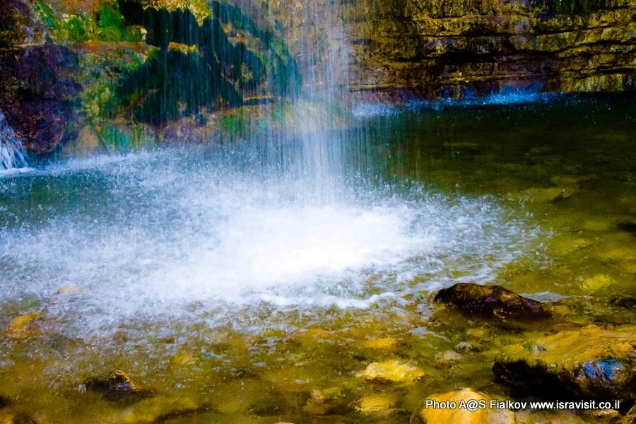 Водопад Давида в Заповеднике Эйн-Геди. Экскурсии в Израиле.
