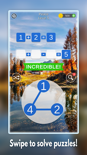 Mathscapes: Best Math Puzzle, Number Problems Game android2mod screenshots 1