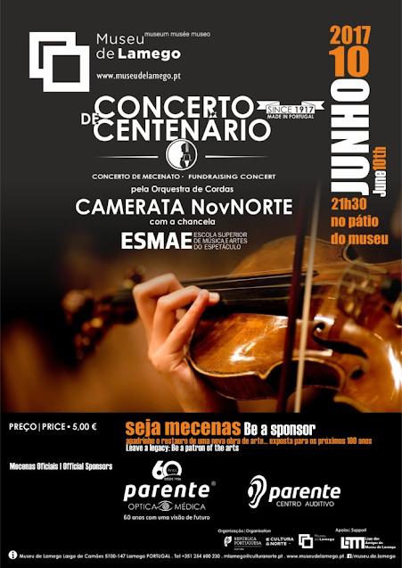 Orquestra de cordas no concerto do Centenário do Museu de Lamego
