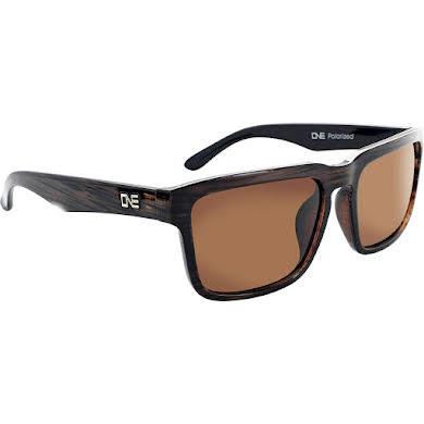 Optic Nerve ONE Mashup Polarized Sunglasses: Shiny Driftwood Demi with Polarized Brown Lens