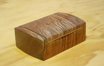 Photo: Doug Wait's first bandsaw box Qld Maple
