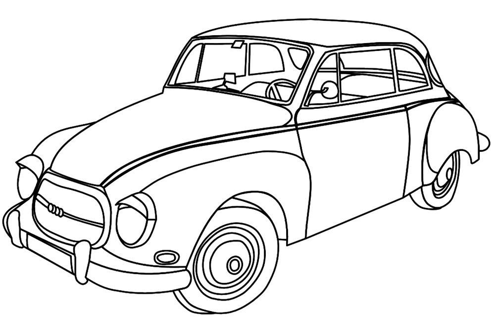 Tranh tô màu xe ô tô cho bé 11