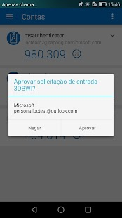 Microsoft Authenticator: miniatura da captura de tela