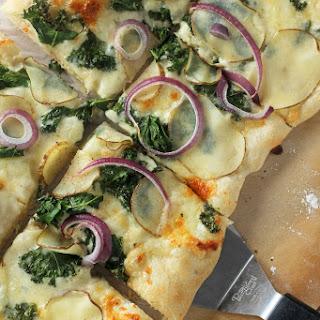 Potato, Kale, Garlic and Cheese Pizza Recipe