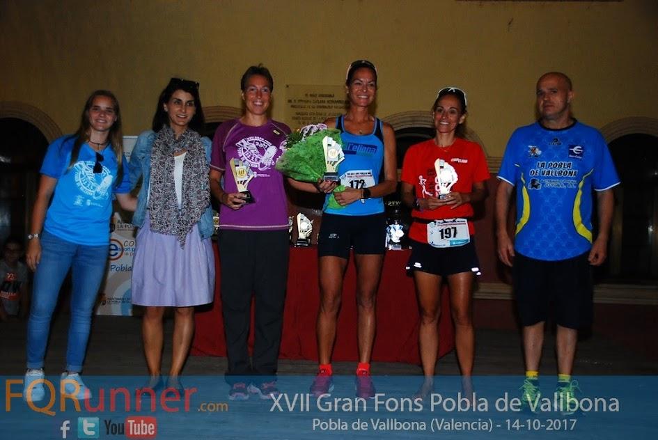 Entrega de Trofeos XVII Gran Fons Pobla de Vallbona 2017
