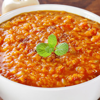 Slow Cooker Red Lentil Curry.
