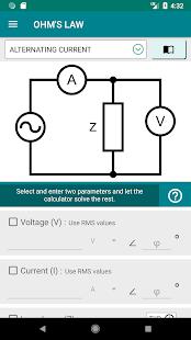 Electronics Engineering Calculators PRO Screenshot