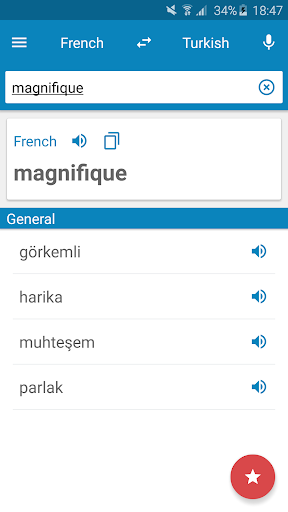 French-Turkish Dictionary