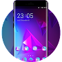 Purple Triangle Abstract Theme for Oppo F3 Plus APK icon