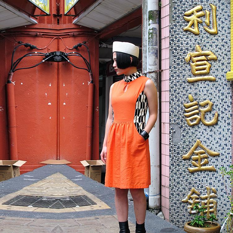 Fen Qipao Orange Medium
