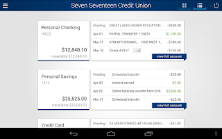 Screenshot of Seven Seventeen Credit Union