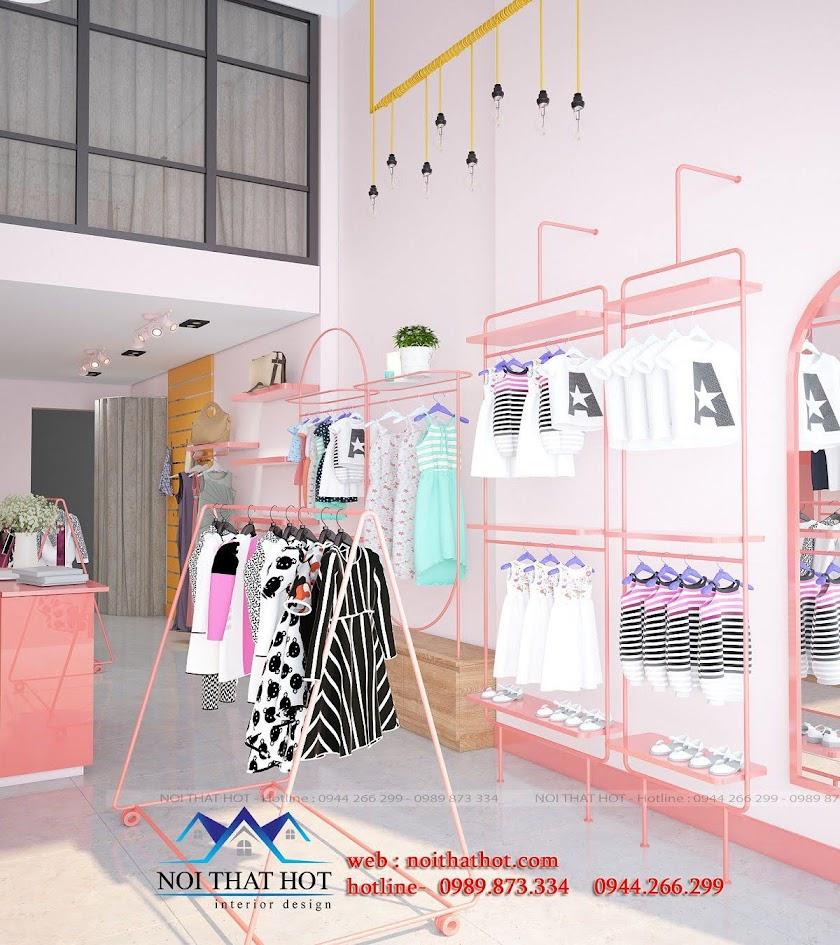 thiết kế shop thời trang trẻ em hợp lý