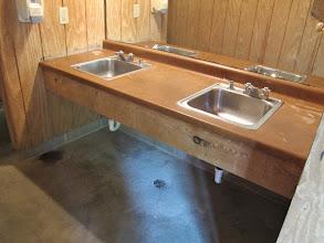 Photo: Yoki Bathhouse Sinks Each bathhouse contains 4 sinks