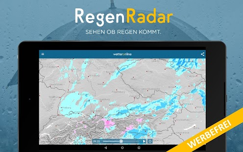 RegenRadar Pro screenshot for Android