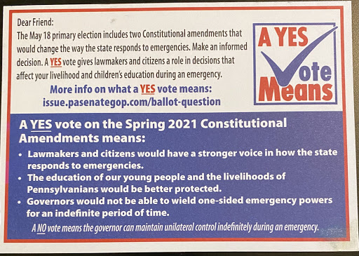 Pa. lawmakers have been promoting May 18 ballot questions. One method is raising eyebrows