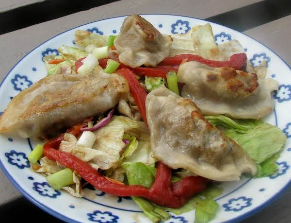 Potsticker And Roasted Pepper Salad Recipe