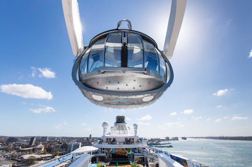 Anthem-of-the-Seas-North-Star-closeup - NorthStar lifts guests 300 feet above sea level to offer stunning views on Anthem of the Seas.