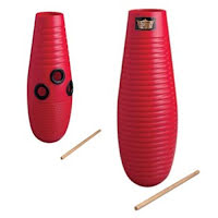 Remo Crown Guiro Large 3 Tone Red