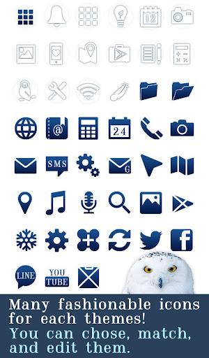 無料个人化Appの★무료 꾸미기테마★Snowy Owl|記事Game